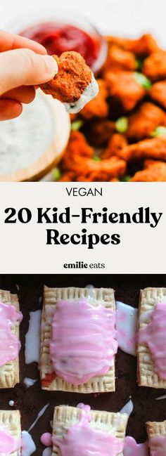 Try some of these 20 kid friendly vegan recipes to encourage the little ones in your family to eat more plants! From mac and cheese to pop tarts. Vegetarian Meals For Kids, Kids Meals, Vegetarian Recipes, Easy Meals, Healthy Kids, Vegan Recipes For Kids, Vegan Ideas, Meat Recipes, Recipies