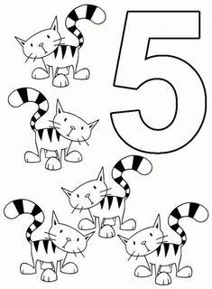 Planse de colorat cu cifre si numere | SfatulMamicilor.ro English Activities, Kindergarten Worksheets, Cosmos, Numbers, Muffin, Education, Color Activities, Alphabet, Numbers Preschool