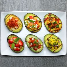 Grilled Stuffed Avocados 6 Ways by Tasty