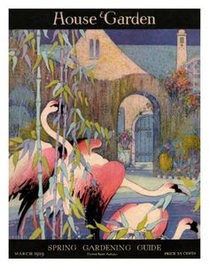 House & Garden Cover - March 1919 by L. V. Carroll