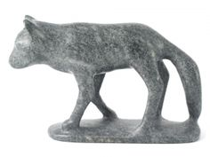"Inuit Art Statue Wolf. Buy positive energy Inuit art statue Wolf by Pitsulak Pinguatuk, which is available for sale in our Inuit Eskimo art sculptures collection. This authentic Inuit Eskimo art statue is made of steatite and measures 6.75' x 10.5"" x 3"". This collectible Inuit carving comes with an ""Igloo Tag"" and is certified by the Government of Canada as being handmade by a Canadian Inuit/ Eskimo artist."