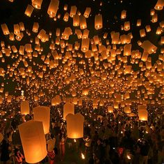 Sky Lantern Festival in Thailand