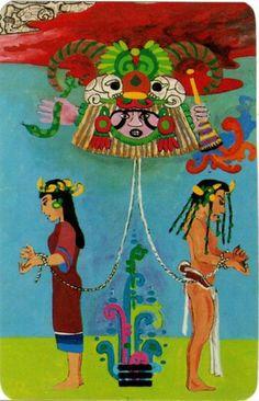 XV. The Devil - Xultun Tarot  by Peter Balin