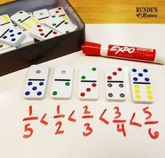 This is a hands-on and visual way for students to learn fractions. It also can be used when they are learning about mixed fractions. 5 Hands-On Activities for Teaching Fractions that your Students will LOVE! 4th Grade Fractions, Teaching Fractions, Fifth Grade Math, Teaching Math, Equivalent Fractions, Fractions For Kids, Ordering Fractions, Comparing Fractions, Dividing Fractions