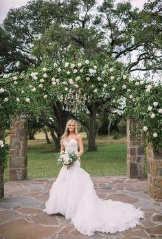 Ma Maison wedding Eve of Milady wedding dress Ceremony chandelier Floral  arch  Bridal bouquet