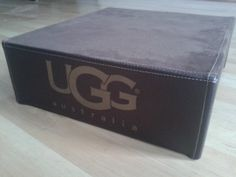 UGG boots retail store shop plinth.Stitched leather type material