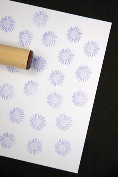 African Daisy Rubber Stamp by norajane on Etsy