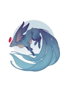Carbuncle Print sold by Ashley Mackenzie Illustration. Shop more products from Ashley Mackenzie Illustration on Storenvy, the home of independent small businesses all over the world. Cute Fantasy Creatures, Mythical Creatures Art, Magical Creatures, Cute Animal Drawings, Animal Sketches, Cute Drawings, Wolf Drawings, Cute Animals To Draw, Drawing Animals
