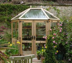 "Greenhouses | Stramshall 8ft6"" x 6ft6"" with glass panelled double doors and extra ..."