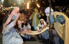 Nativity scene at the Easter Plays in Mendrisio