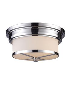 "13"" LED 2 Light Flush Mount in Polished Chrome"