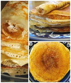 Dutch Pancake: Pannekoeken Recipe. It would be so fun to do a pancakes around the world party! These from the Netherlands are so chewy and thin and yummy, and are not only eaten for breakfast in the The Netherlands.