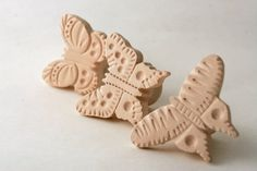 Pick one or all from this flight of butterflies waiting to adorn your clay projects! Please choose from the following options:  One (1) pearl crescent