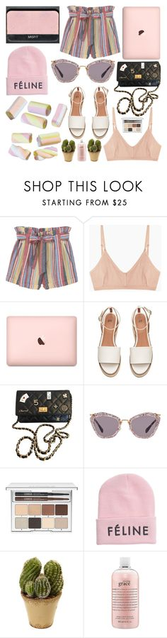 """""""Untitled #454"""" by inkcoherent ❤ liked on Polyvore featuring MANGO, Base Range, NARS Cosmetics, Chanel, Miu Miu, Clinique, Brian Lichtenberg, Nearly Natural and philosophy"""