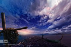 life and sea by joecas  clouds hua-hin sea sky thailand joecas