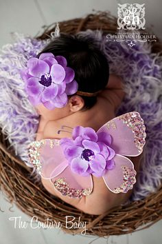 AMETHYST DREAMS Lavender Purple Sequin Newborn Infant