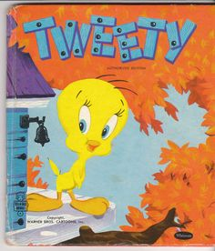 Tweety 1953 Whitman Tell-a-Tale Book 2357 Warner Brothers Cartoons - vintage children's book