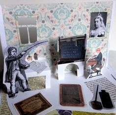 Victorian school pop-up collage. Love this idea!! Just requires research and teaching them how to stick!