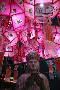 Go to Samgwansa during Buddha's birthday. Busan, South Korea #travel