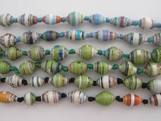 handmade by stacy vaughn: paper beads