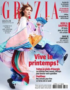 Clémence Poésy, photographed by Benni Valsson for Grazia France, March Fashion Magazine Cover, Fashion Cover, Magazine Covers, Clémence Poesy, Le Bataclan, Milan, Grazia Magazine, Vogue Russia, I Got You