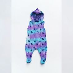 New Baby Hoodie Bodysuit Tie Dye Baby Bodysuit Boat by AbiDashery