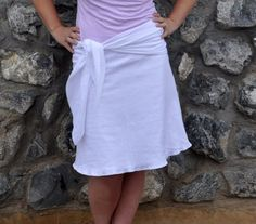 DIY Easy Gauze A-Line Skirt with Sash - Simply Modern Mom » Simply Said… Destri of The Mother Huddle