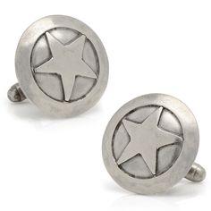 Sterling Silver Star Cufflinks -- $100