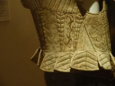leather doublet at the Stibbert, lower back