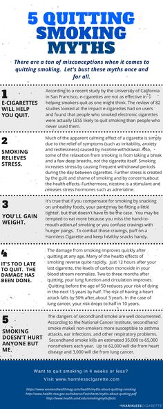 There are a ton of misconceptions when it comes to quitting smoking. Let's bust those myths once and for all! #QuitSmoking #HarmlessCigarette
