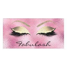 Pink Glass Glitter Gold Beauty Salon Lashes Makeup Door Sign - rose gold style stylish diy idea custom