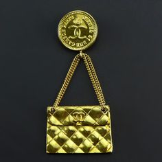 CHANEL Vintage Brooch Very Good Condition RM28xx Ref-CKCK-45 🏠Bangsar showroom + 6 010 220 3384 + 6 03 2095 6266