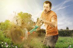 Alt det havearbejde – slid og slæb. Noget man kan forbande så langt væk, at man er nødt til at forestille sig at man er med i en actionfilm. #gardening #actionpacked