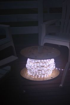 Wire spool & rope light table