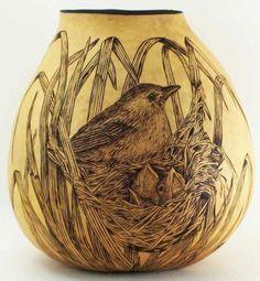 wood burning gourd art - Google Search
