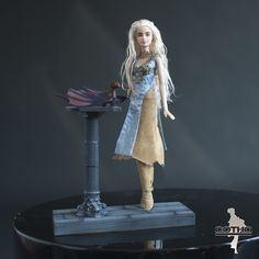 Daenerys OOAK doll polymer clay dragon inspired by Game of Thrones