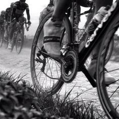Roubaix - look at the chain bounce and he's not even on the cobbles!