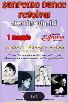 #danza  #dance  #weekendinpalcoscenico  #ilportale 01/05/2015 SANREMO DANCE FESTIVAL 2015 LUOGO: Teatro ARISTON REGIONE: Liguria PROVINCIA: Imperia CITTA': SANREMO http://www.weekendinpalcoscenico.it/portale-danza/doc.asp?pr1_cod=4739#.VQ1DuY6G9V0