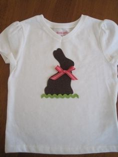 Chocolate bunny shirt-I think I could actually do this one!