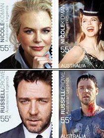 Celebrity stamps: Australia