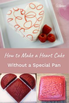 Save money on the special pan! How to make a heart cake with just two cakes. (Plus yummy recipe). It's perfect for Valentine's Day.