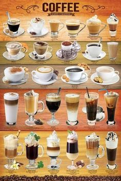 Coffee Mixology Collage Education Poster - 61 x 91 cm Coffee Beans, Coffee Cups, Coffee Coffee, Coffee Enema, Coffee Maker, Coffee Tables, Diet Coffee, Coffee Americano, Coffee Health