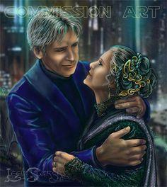 Han Solo and Leia