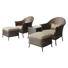 Have to have it. Coral Coast Richmond 5 Piece All-Weather Wicker Outdoor Chat Set - $599.99 @hayneedle.com
