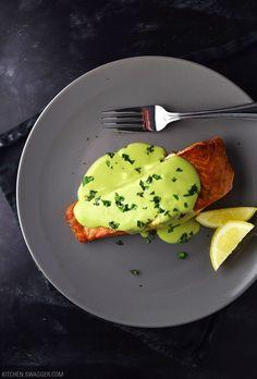 5a9e6caebbf2 Pan-Seared Salmon with Creamy Avocado Sauce Pan Seared Salmon