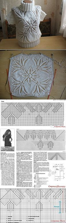 Knitting projects sweaters beautiful ideas for 2019 Sweater Knitting Patterns, Lace Knitting, Knitting Stitches, Knit Patterns, Stitch Patterns, Knit Crochet, Crochet Designs, Knitting Designs, Knitting Projects
