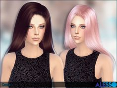 Gecko Hair by Alesso at TSR via Sims 4 Updates