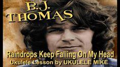 Raindrops Keep Falling On My Head  - Ukulele Tutorial by UKULELE MIKE LYNCH