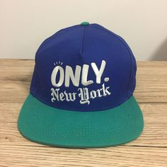 b8667fa8920 Only New York Embroidered NY Green Blue Snapback Hat Cap Made in USA