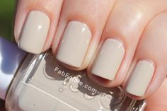 Interesting tan nails. Kinda like this. Sand Tropez - Essie.